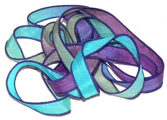 Sassy Silks Hand Dyed/Painted Ribbons Bourbon St.