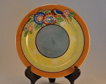 Japanese Lusterware Hand Painted Plate
