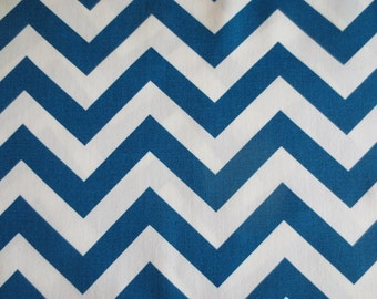 Outdoor Pillow Cover / Indoor Pillow Cover / Blue Pillow / Chevron Pillow / Zig Zag Blue