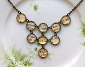 Book page bib necklace - A Book Lovers Dream