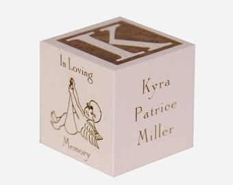 Infant Memorial Cube,Infant Memorial Block,Infant Memorial Gift,Infant Memorial Keepsake,Stillborn Gift,Infant Bereavement,Memorial Gift,