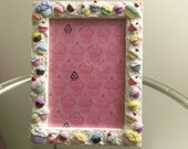 MAD FOR CUPCAKES Themed Picture Frame by Juste Jolie 5x7 White Picture Frame