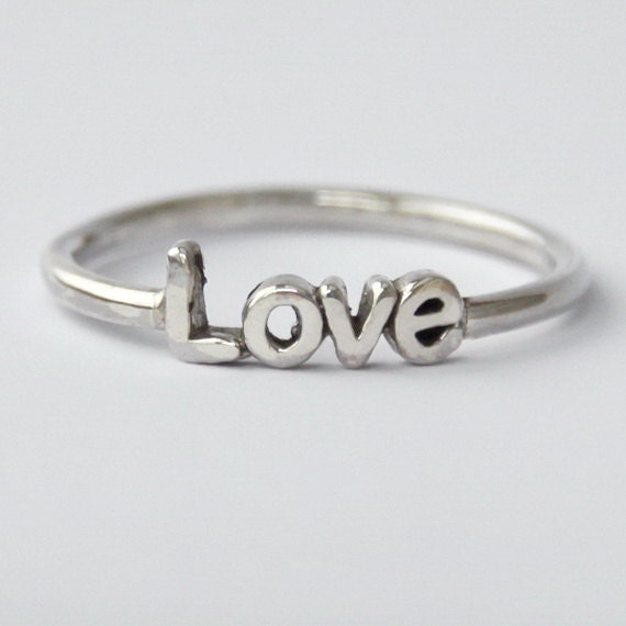 Love Ring - 925 Sterling silver with poetic/ Inspirational word
