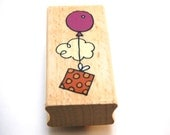 Balloon Present Wood Mounted Rubber Studio G Stamp NEW