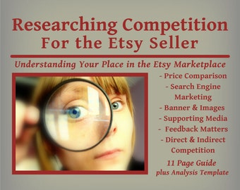 Researching Competition for the Etsy Seller - PDF Guide, Competition Research Tutorial