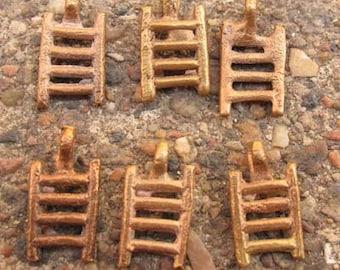 Handmade African recycled Adinkra symbol brass pendant