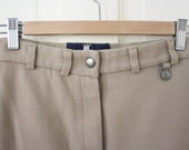 High-Waisted Millers Thick Cotton Stretch Jodhpur Riding Pants - Khaki - Size 26