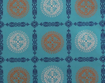 Vintage American Greetings All-Occasion Gift Wrap - Wrapping Paper - ATOMIC Blue Pattern - 1960s