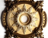 Ceiling Medallion MILAN painted brass for a chandelier or fan