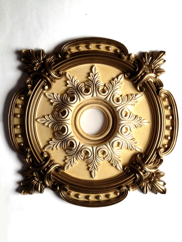 Ceiling Medallion Milan Painted Brass For A By Accentbydesign