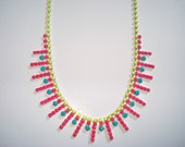 Neon Revolution Hand Painted Rhinestone Necklace