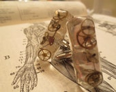 Gears Frozen in Time VIII Rectangle Cuff Links