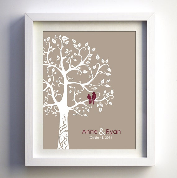 Personalised Wedding Gift Etsy : Wedding Anniversary Gift Ideas Personalized wedding anniversary ...