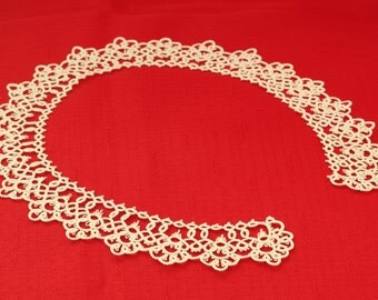 Lace tatted collar I - made to ORDER