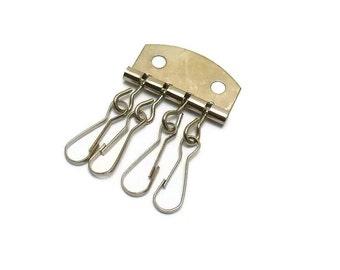 3.3x5cm argent organizer key holder key rings 4 pcs -  (PC01)