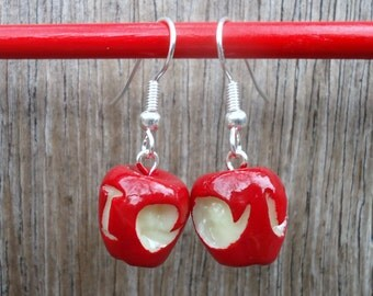 IOU Apple Earrings - BBC Sherlock, Moriarty