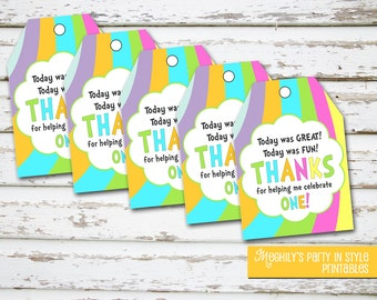 INSTANT DOWNLOAD - Oh The Places Youll Go Favor Tags