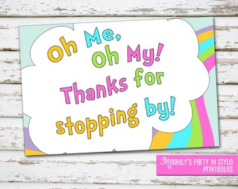 INSTANT DOWNLOAD - Oh,The places you'll go -  Thank You Notes