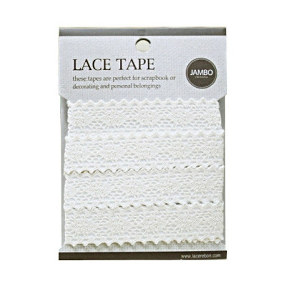 Adhesive deco fabric cotton lace tape M 04 - beige by J