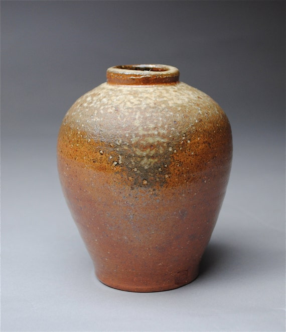 Handmade Clay Bottle Wood Fired Q19