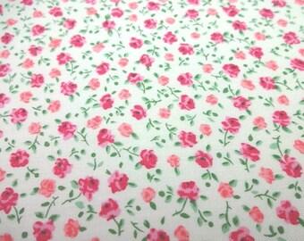 Japanese Fabric Puchi Flower Rose White Fat Quarter
