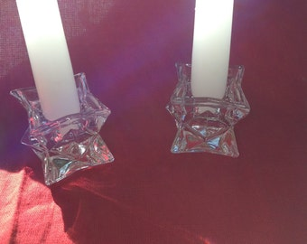 Vintage Light Weight Square Candle Holders