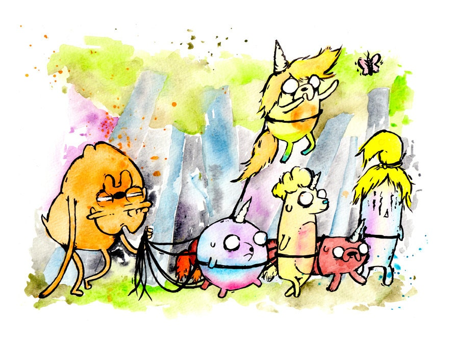 Adventure Time Lady Rainicorn And Jake Kids Lady rainicorn jake jr..