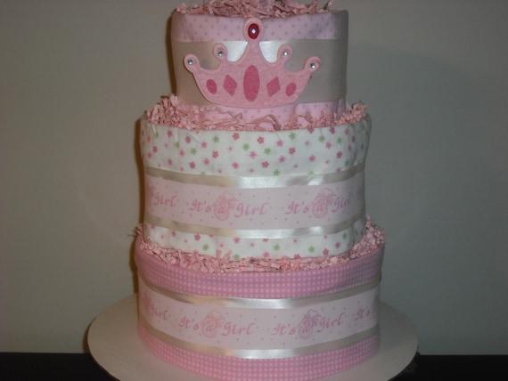 Pastel de pañales princesa para niña por SweetNothings3 en Etsy