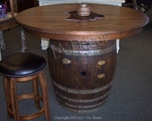 Wine Barrel Dining Table Or Game Table - Unique gathering table - Wine Table Reclaimed Wood