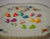 Tiny Multi-colour Resin Cabachon Hearts