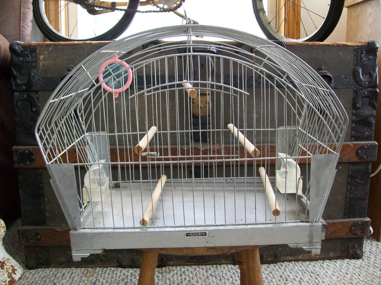 Antique Hendryx Metal Wire Bird Cage Tweety Bird House