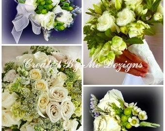 Custom Made 30 pcs  real touch-silk Wedding Flower Package