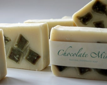 Handmade Herbal Chocolate Mint Soap - Vegan Soap - Herbal Soap - Wholesale Soap
