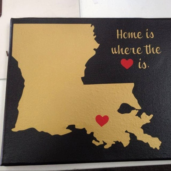 Items Similar To Home Is Where The Heart Is On Canvas On Etsy