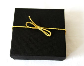 Elastic bows stretch loops gold pretied gift packaging-elastic loops  jewellery boxes decoration Qty 5