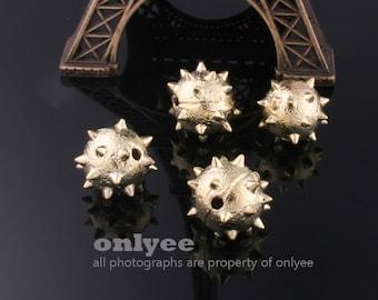8pcs-12mmGold plated brass Horn Ball Beads(K430G)