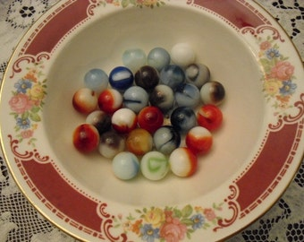Colorful Glass Multicolored Marbles for Crafting, Gaming, Decorations