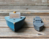 Pair of Vintage Wooden Boats - RootedInVintage