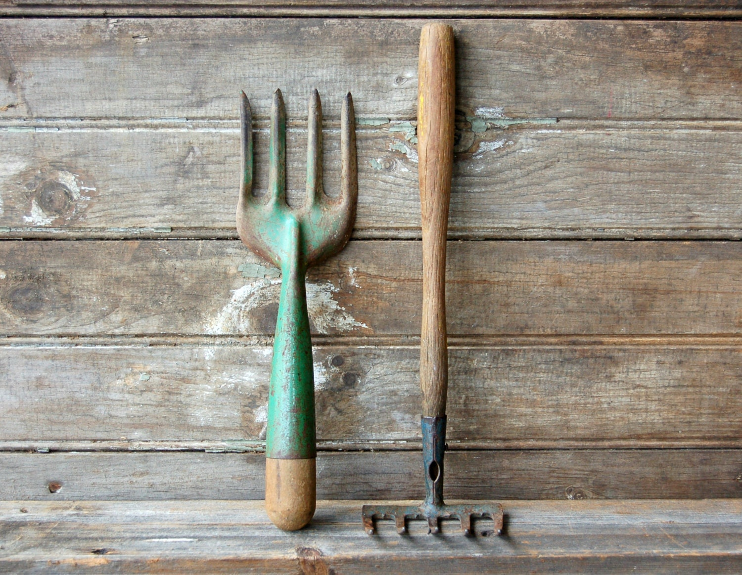 Pair of vintage garden tools for Tools for backyard gardening