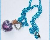 Blue Purple Fairy Pixie Dust Necklace