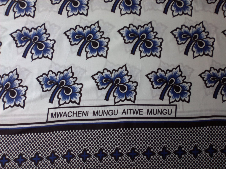 African Fabric Kanga Khanga Sarong Throw Beach Whites Blacks
