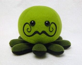 Stuffed Mustache octopus plush toy