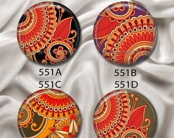 """Fall In Love With Fall - Magnetic Design Inserts - FIT Clique and Magnabilities 1"""" Jewelry Bases...551"""