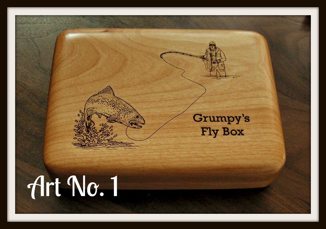 Fly fishing box personalized fly fisherman trout for The fishing fly box