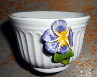 Vintage Jewelry Box, Pansy, Purple, Trinket  Box, Made in Italy, Pansy Flower, Floral Box