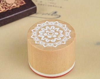 1 Piece Lace Stamp - Wooden Rubber Stamp - Korean Stamp - No 5