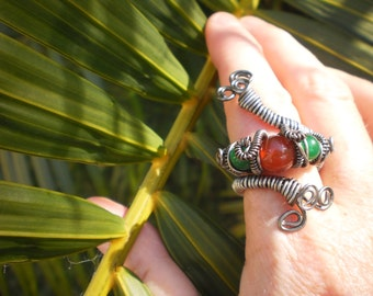 Bohemian Jungle Wire Wrap Ring
