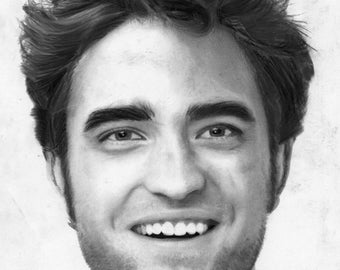Robert Pattinson Portrait Limited Edition Print