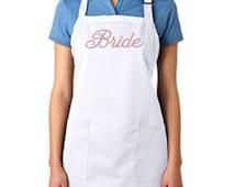 Embroidered Bride Apron