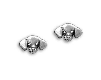 Sterling Silver Beagle Post Earrings